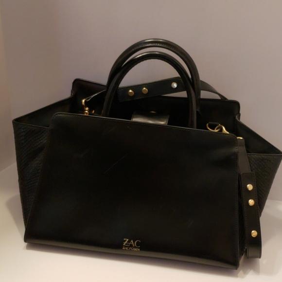ZAC Zac Posen Handbags - Zac Zac Posen Eartha leather snake embossed bag
